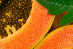 Close up of papaya fruit Stock Image