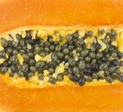 Close up of papaya fruit Royalty Free Stock Photos