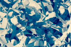 Close-up of paper. Shredded paper, symbolic photo for data destruction, documentation and legacy Royalty Free Stock Images