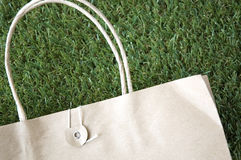 Close up paper bag Stock Images