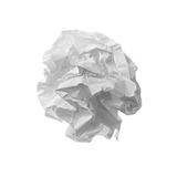 Close up of a paper ball. On white background Stock Photos