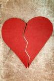 Close up of paper broken heart Royalty Free Stock Photos