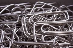 Close up of Paper Clips Stock Photography