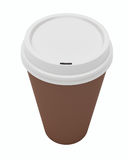 Close Up Paper Coffee Cup Royalty Free Stock Photography