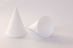Close up of paper cone cup. stock images