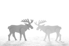 Close up of paper reindeer decoration for a christmas background Royalty Free Stock Photo