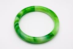 Close up para arredondar o chinês dado forma Jade Bracelet, foto de stock