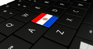 Close up of Paraguay button. Stock Image