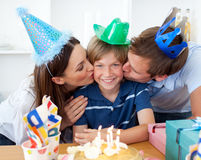 Close-up of parents celebrating Royalty Free Stock Images