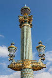 Close up of a Paris street lamp - France Royalty Free Stock Images