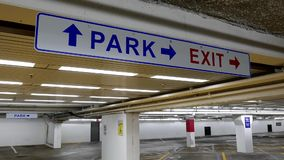 Close up park and exit sign stock video footage