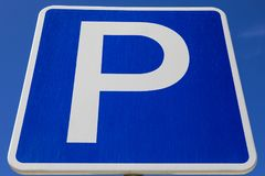 Close-up of a Parking Sign. A close-up of a Parking sign Stock Image