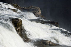Close up of part of Gullfoss (golden falls) waterfall, Iceland Stock Photo