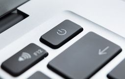 Close up of part of laptop keyboard Royalty Free Stock Photography