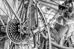Close up part of old bicycle Stock Image