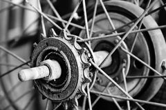 Close up part of old bicycle Royalty Free Stock Photo