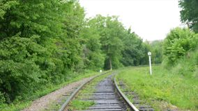 Close up on part of railroad track from.  stock footage