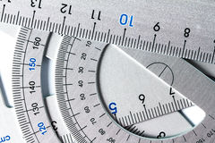 Close up a part of silver precision measurement tool Stock Photography