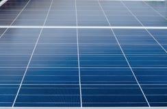 Close up a parte superior do painel solar Imagem de Stock