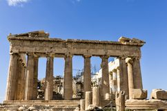 Close-up of the parthenon Royalty Free Stock Photo