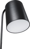 A Close Up Partial View of a Black Floor Lamp. Black part of lamp isolated on white. Stock Photos
