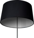 A Close Up Partial View of a Black Floor Lamp. Black part of lamp isolated on white. A Close Up Partial View of a Black Floor Lamp. Black part of lamp isolated Stock Photography