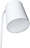 A Close Up Partial View of a white Floor Lamp. part of lamp isolated on white. Royalty Free Stock Photography