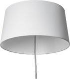 A Close Up Partial View of a white Floor Lamp. part of lamp isolated on white. Stock Photography