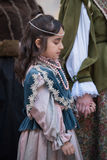 Close-up of participant the medieval costume party Royalty Free Stock Images