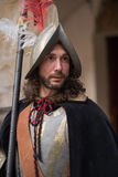 Close-up of participant the medieval costume party Royalty Free Stock Photos