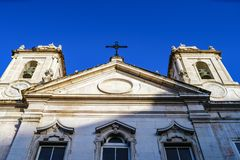 Close up particulare of facade of the church Royalty Free Stock Images