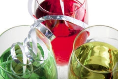 Close up of party drinks Stock Images