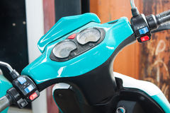 Close up past of head electrical motorcycle. Thailand stock photos