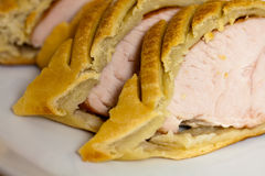 Close up ,pastry with meat Stock Images