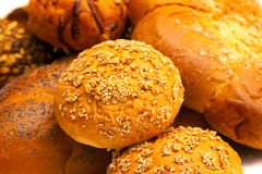 Close-up pastry with sesame seed. Close-up gold pastry with sesame seed Royalty Free Stock Photos