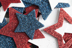 Close Up Patriotic Star Decorations Royalty Free Stock Image