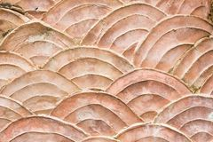 Close-up pattern of grungy wall shaped like scales of fish Stock Photos