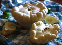 Close up of patty pan squash Stock Photography