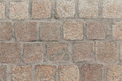 Close up of paving stone or facade tile texture Royalty Free Stock Image