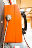 Close up pay phone. On stand. Telephone stock images