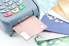 Close up Payment machine Royalty Free Stock Images
