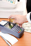 Close up Payment machine Stock Photo