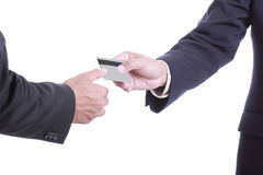 Close up Payment machine on during using Credit card Royalty Free Stock Photography
