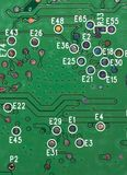 Close-up of PCB. Slightly covered in dust royalty free stock images