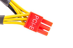 Close Up PCI-E cable video card Royalty Free Stock Photo