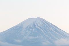 Close up peak of Fuji mountain in winter, Japan royalty free stock images