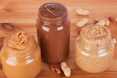 Close up peanut butter Stock Photography