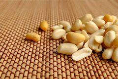 Close up of peanuts,Arachis hypogaea L. have many benefits But t. Here is Aflatoxin Stock Photo