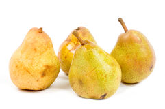 Close up of pear. On white background royalty free stock image