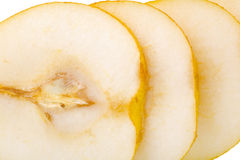 Pear fruit slices Royalty Free Stock Images